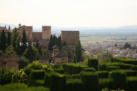 the Alhambra, overlooking Granada